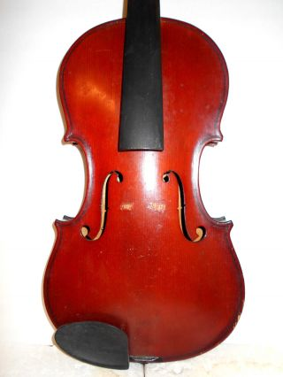 Vintage Old Antique Full Size 2 Pc Back Violin - photo