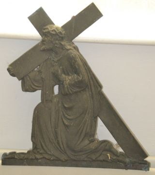 Antique 18th Century Church Bronze Station Of The Cross C1700 ' S 2 photo