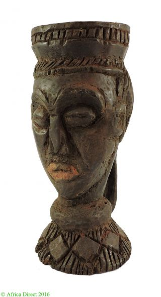 Kuba Figural Cup Fine Head Congo African Art photo