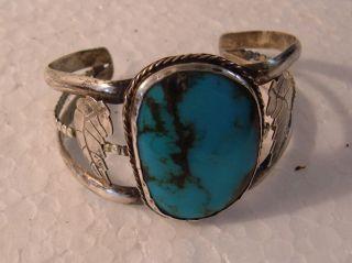 Vintage Turquoise Bracelet Sterling photo