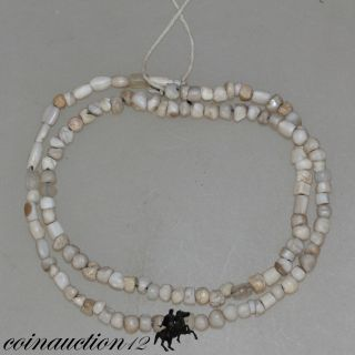 Medieval European Stone Beads Necklace 1500 - 1600 Ad photo