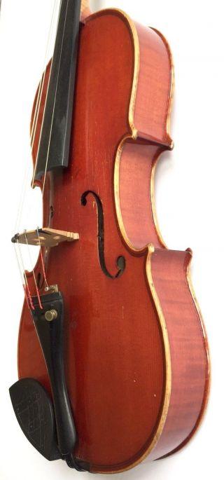 Authentic Vintage 1923 Heinrich Th.  Heberlein Jr.  4/4 Size German Violin & Case photo