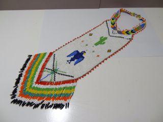 Vintage Native American Indian Beaded Neckpiece Collar Necktie Necklace Yoke? photo