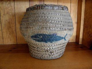 Vintage Northwest Coast Makah Indian Basket photo
