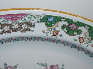 Huge Antique 1860 Mintons Chinoiserie Polychrome Platter 19 1/2