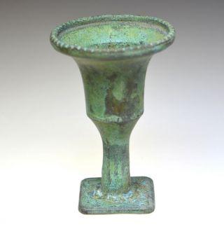 Roman Bronze Candle Holder photo