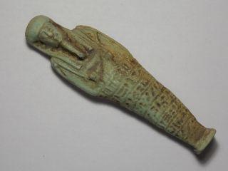 Ancient Egyptian Shabti With Hieroglyphics 1500 - 1000 Bc Large photo