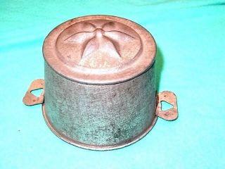 Primitive Tin Star Mold 1940 ' S Steam Puddingcake Mold 5x3 1/4 France W/2handles photo