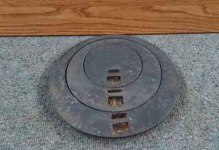 Great Old Wood Coal Stove Cast Iron 3 Piece Rimmer Stovetop Lid Cooking Part photo
