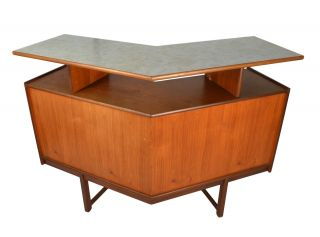 Mid Century Danish Modern Teak Cocktail Bar photo