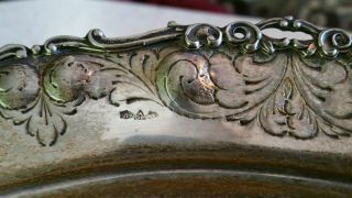 Large Silver Vintage Bowl From Palermo Italy photo