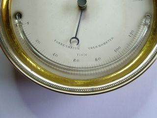 1850s Engraved C.  W.  Dixey,  Bond St Brass Barometer & Thermometer :working photo