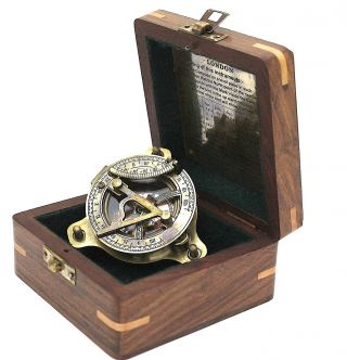 Brass Sundial Compass – Antique Sundial Compass photo