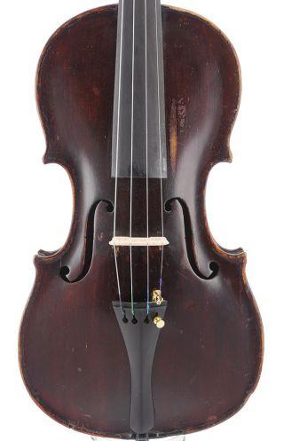 Antique Gebruder Placht 4/4 Labeled Old Master Violin photo