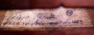 Fine,  Antique Piero Merodini Old Italian Labeled 4/4 Master Violin photo