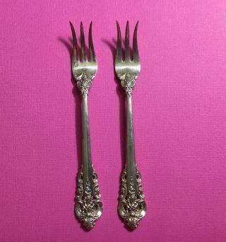 2 (two) Grande Baroque Cocktail Forks - 5 3/4