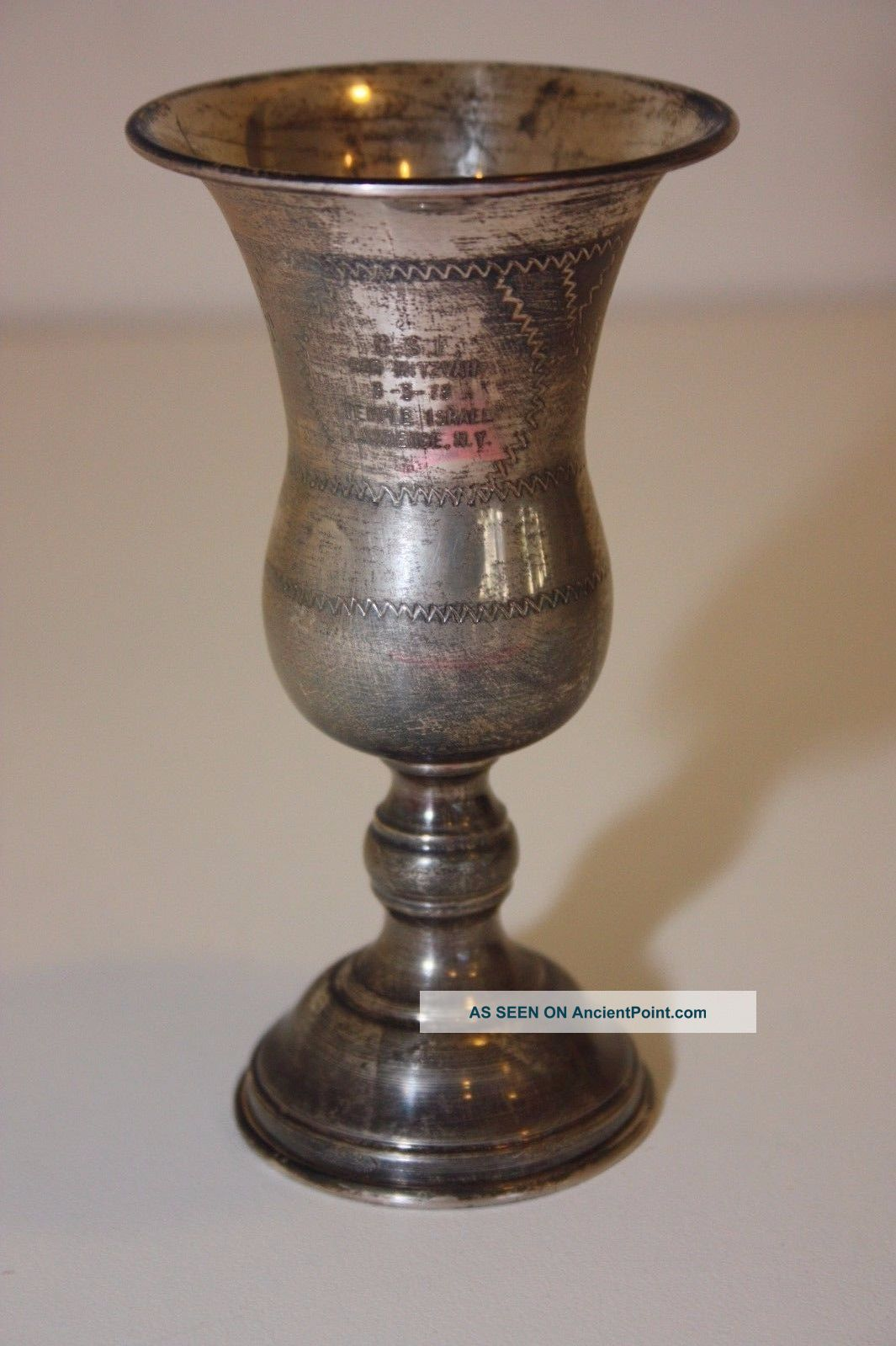 Vintage Esco Sterling Silver.  925 Kiddush Cup Wine Judaica Star Of David Jewish Cups & Goblets photo