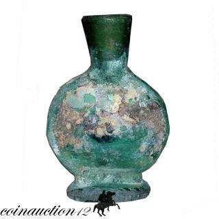 Large Size,  Roman Period Near Eastern Glass Bottle 100 - 300 Ad photo