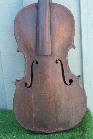 Interesting & Orig.  18thc Full Size Violin Of European Origin C1790s photo