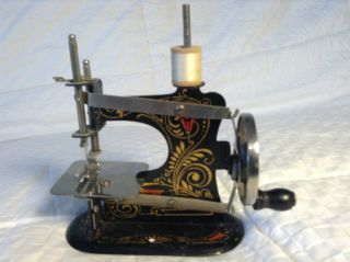 Casige Miniature Ornate Hand Crank Sewing Machine Germany photo
