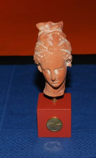 Head Of A Clay Female Figurine At Pella Greece - Hellenistic Period photo