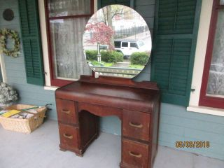 Vanity Art Deco With Mirror Needs Refinishing photo