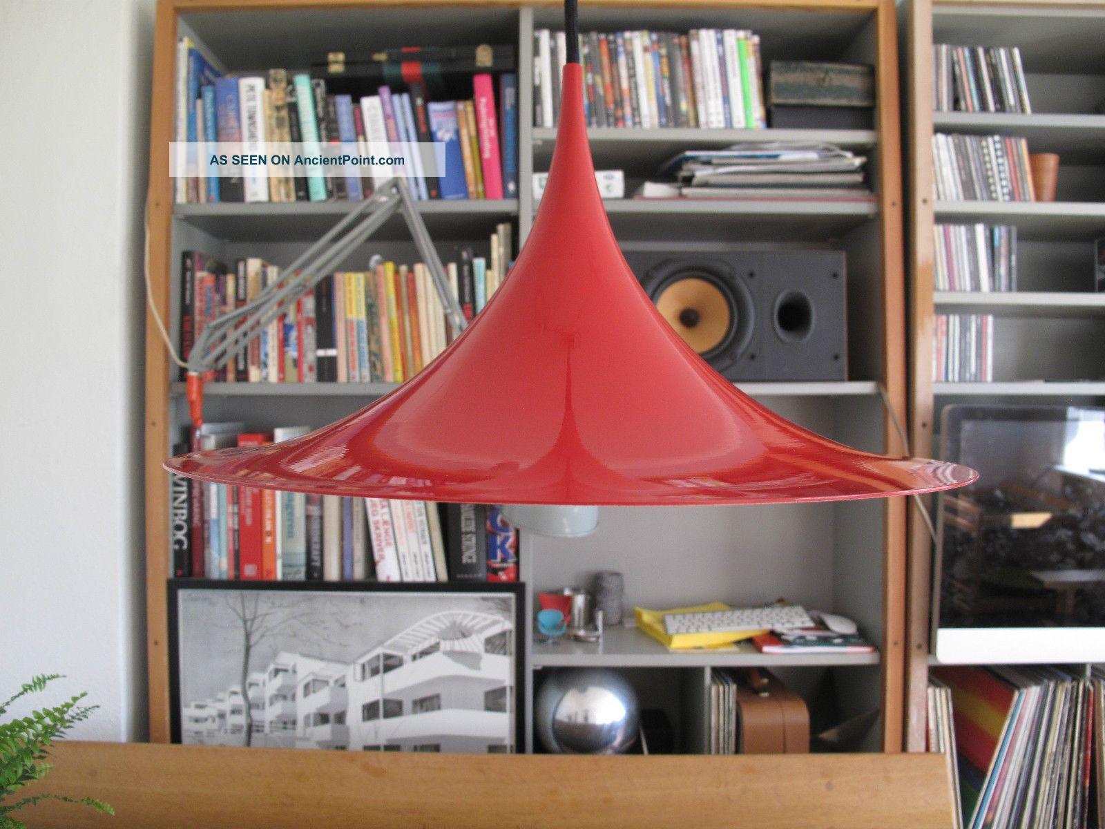 1967 ' S Semi Lamp Thorup Bonderup Fog Morup Danish Modern Space Age Panton Era 20th Century photo