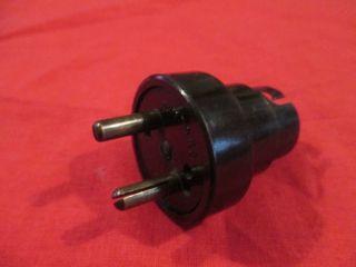 Vintage X2 Pin Plug In Bakerlite Bulb Adapter photo