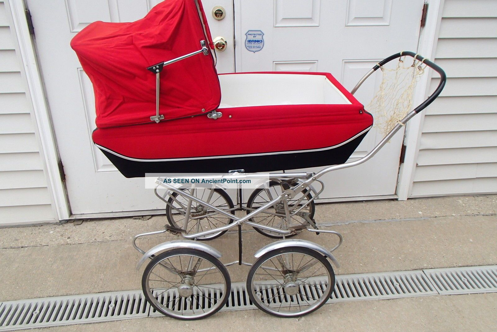 Vintage Stegner Red Pram Baby Stroller Buggie Carriage Baby Carriages & Buggies photo