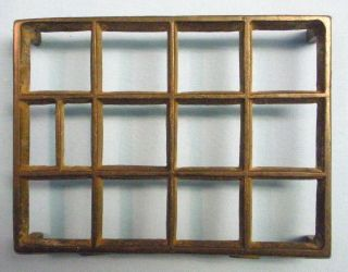 Vtg Iron Trivet.  Rectangular Shape photo