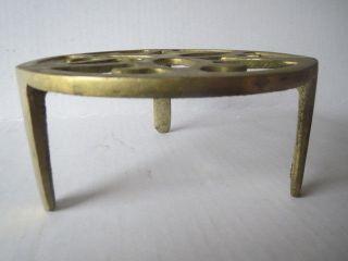 Antique Brass Trivet Stand photo