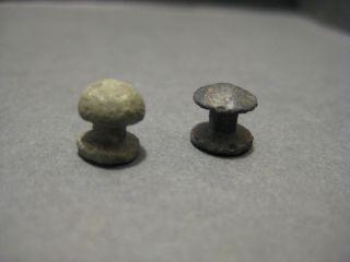 Ancient Roman Bronze Cingulum Belt Decoration Fittings Fungiform Studs photo