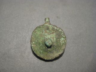 Ancient Roman Bronze Legionary Pendant Signum ' S Phalera Shaped Wearable photo