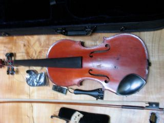 French Jtl Violin With Bow Marked Tourte,  Jerome Thibouville - Lamy,  Includes Case photo