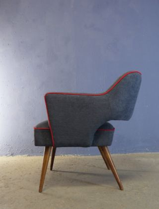 Vintage Retro Mid Century 1950 1960 Easy Chair Armchair Cocktail Chair photo