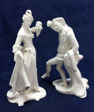 1760s Nymphenburg Franz Anton Bustelli Commedia Dell Arte Figurines 18th Century photo