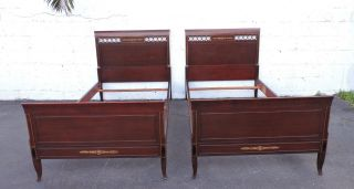 Mahogany Twin Size Beds By Rway Northern Furniture 7124a photo