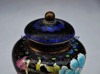 Exquisite Chinese Cloisonn Handmade Flower Pot photo
