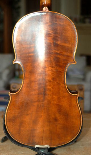 Fine Antique Handmade German 4/4 Fullsize Violin - About 100 Years Old photo
