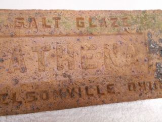 Athena Nelsonville Brick Block Paver Salt Glaze Ohio 1877 - 1937 Antique photo
