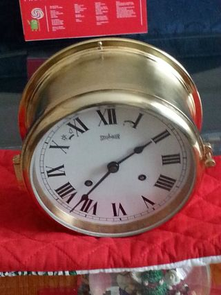 Stockburger Marine Clock 11 Jewels Circa 1987 photo
