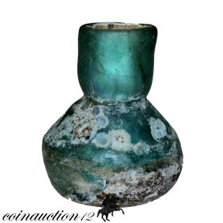 Museum Quality,  Roman Period Near Eastern Bottle 100 - 300 Ad photo