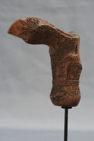 Hilt,  Keris Handle Of An Indonesian Dagger,  Lampung,  Sumatra,  Indonesia photo