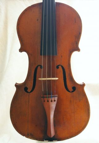 Antique French? Labelled Violin photo