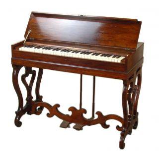 Antique Dreher Kinnard & Son Rosewood Melodeon Pump Organ photo