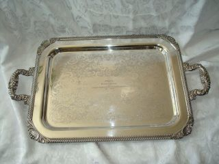Massive Birks Rideau Plate Silver Tray 26.  5