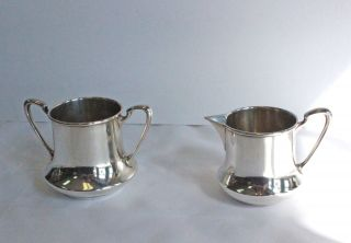 Manchester Sterling Silver Mid Century Cream And Sugar C1949 - 126.  0g photo