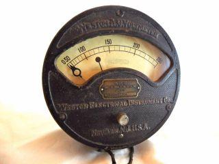 Weston A.  C.  Voltmeter Model 156 1895 - 1913 Patents Steampunk Gauge photo