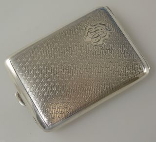 English Silver Stamp Case.  Birmingham 1928 photo