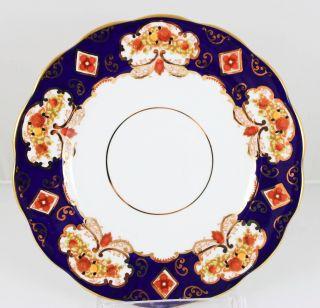 3 Bread Plates Royal Albert Imari Bone China Heirloom Scalloped 4534 Cobalt Gold photo